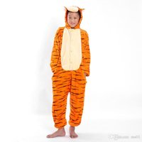 Wholesale mascot Love apartment couple pajamas Men and women pajamas winter tigger conjoined animal cartoon