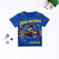 Wholesale Kids T shirts Cartoon Dog PAW clothes Toddler Boys blue patrol Short sleeve T shirts Tops Children shirts Baby Kids Summer Clothes