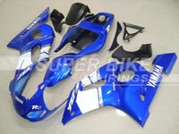 Wholesale New Hot motorcycle ABS Fairing Kit Fit For YAMAHA YZF R6 YZF600 YZF R6 Bodywork white vs blue