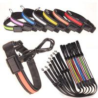 basics solar energy - USB solar charging dog led collar S M L flexible nigh walking safety alert light flashing collar pet supplies new energy