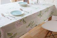 Wholesale Hot Sale European style Cotton Table Cloth Rectangular Tablecloth European classic Pure cotton tablecloth table cloth Pastoral style mesa