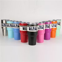 Wholesale Yeti Cups YETI oz Top Selling Rambler Tumbler Travel Beer Mug Double Wall Bilayer Vacuum Insulated Stainless Steel Mug