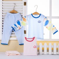 air condition brand - China brand Baby boy girl newborn pajamas set Summer thin long sleeve homewear Air conditioned sleepwear infants pajamas cotton