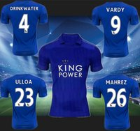 Wholesale Leicester City home blue Soccer Jerseys player s athletic football sets men s short sleeve thai quality soccer kit summer outdoor sportswear