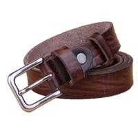 Nouvelle ceinture en cuir véritable de la mode Femmes Top cuir de grain gros-2016 ardillon ceintures occasionnels cru pour les jeans de Cintos de haute qualité