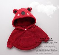 add garment - Children new winter coat han edition girls to years old baby loose bat sleeve add cotton hooded fur garments