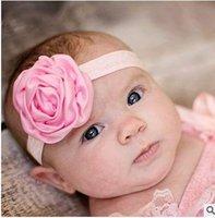 Wholesale European and American children s hair accessories handmade satin rosebuds volume rose hair band jewelry HD031