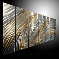 Wholesale Oil Painting art metal paintings wall home Decor Metal Modern Abstract Art Original Arts