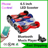 Wholesale New Phone APP Music Speaker Hoverboard Bluetooth Self Balancing Scooters quot Two Wheels Skateboard Scooter Electric Balance Wheel Smart