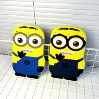 Wholesale DHL New Cartoon Despicable Me Cute Yellow Men Minions Soft Silicon Phone Case Shell Cover for apple ipad mini
