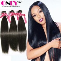 Wholesale Indian Remy Hair Silky Straight Human Hair for Weaves Mongolian Brazilia Peruvian Indian Striaght Weave Sew Hair Extensions