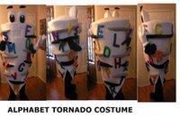 alphabet theme party - New Alphabet Tornado Icecream Costume Mascot Adult Birthday Carnival Party Cartoon Sundae Ice Cream Theme Advertising Mascotte SW1691