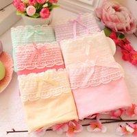 Wholesale 2016 Hot Sale Lovely Lace Bow Girls Panties Cotton Women Briefs Cute Kids Underwear Bargas girl underwear