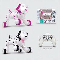 battery toy dog - Children Cute JG G RC Robot Smart Dog With V Li Battery RC Intelligent Simulation Mini Dog Multi Function Toys