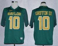 bears footballs - Baylor Bears Jersey Footbball Ncaa College Rebort Griffin III RG3 Jerseys Green