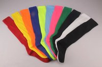 Wholesale Best quality blank football soccer socks retail hick towel bottom adult men