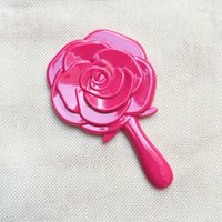 aritificial flowers - DHL Wedding Favor Gift aritificial Rose flower Mirror with handle single side mirror party supplies