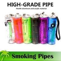aluminium water - Small Shisha Hookah Pipe High Grade Smoking Pipes Low Water Pipes Aluminium and Acrylic Material Healthy and Safe Tobacco Pipes Colors