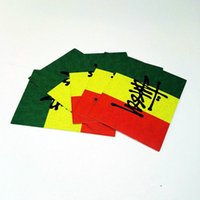Wholesale 10 RASTA Sticker Smoke Sticker Raggae Bob Marley Bicycle Car Sticker Decal Bumper Stickers Jamaica Red Yellow Green Stickers Decals