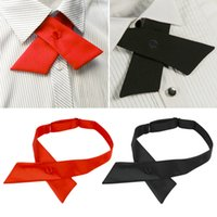 Wholesale New Adjustable Cross Tie Wedding Bowtie bowknot Dailylife Criss Cross Uniform Tie fashion Hot