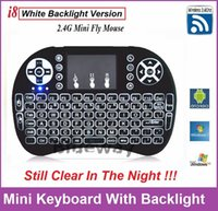 best keyboard mouse - Best Rii I8 Smart Air Mouse Brighter White Backlight GHz Wireless Keyboard Remote Control Touchpad For S905X S912 TV Box