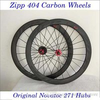 Wholesale ZIPP Black Decals mm Carbon Fiber Road Bike Racing Wheels Clincher Tubular Bicycle C Wheelset With Novatec Hubs