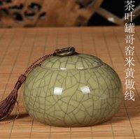 bag tin cans - The tea pot bag mail Longquan celadon big yards tin can storage tanks ceramic POTS sealed cans tea packing
