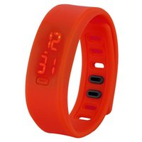 Wholesale Silicon band with LED time show red green black blue colorful gift for wrist