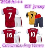 arsenal fashion - TopThai jerseys with shorts Arsenal kits Soccer Jerseys football shirts ALEXIS WILSHERE GIROUD CHAMBERS OZIL ET