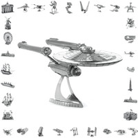 Wholesale 3d metal laser cut assembly model d metallic nano puzzle toys star wars musical instrument d building puzzle Aircraft style