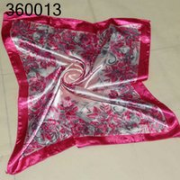 Wholesale Chiffon floral pattern silkprinting ceremony cm x50cm ceremonial scarves square scarf point