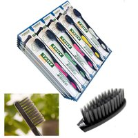Wholesale 30pcs Antibiotic Soft bristle Bamboo Toothbrush For Adult Bamboo Charcoal Brush Oral Care