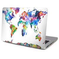 Wholesale 10 Patterns Laptop Vinyl Decal Grey Marble Top Sticker World Continent Map Print Cover Oil Painting Skin for Macbook Air Pro Retina
