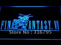 Wholesale e028 b Final Fantasy VI LED Neon Light SignWholesale Dropshipping On Off Switch colors DHL