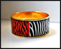 africa brass - Wild Africa series K gold plated enamel bangle bracelet for woman Top quality bracelets bangles width mm Fashion jewelry