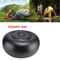 Wholesale Inflatable chair Outdoor Lazy Circle stool Cylinder Inflatable Creative Leisure PVC Sofa Outdoor Circle stool Seat cm LJJK442