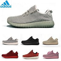 Cheap Adidas Original Kanye West Yeezy Boost 350 Pirate Black Low Sports Running Shoes Women and Men Sneakers Training Boots Red Eur36-46 Cheap