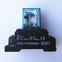 Wholesale 1pc new coil power relay pin NO NC LY2N J VAC A DPDT with pc base Warranty for Two Years
