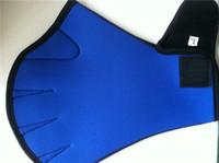 aqua box water - Water Aerobics Aqua JoggerSwimming Swim Surfing Diving Webbed Neoprene PaddleGloves Blue