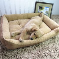 aluminum dog kennel - Soft Pet large Dog Bed Nest Bed Fleece Warm Warming House Luxury Kennel Plush Lamb cashmere bed pet dog Mats kennel Pet Supplies