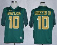 baylor football jerseys - Baylor Bears Jersey Footbball Ncaa College Rebort Griffin III RG3 Jerseys Green