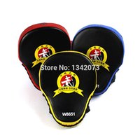 Wholesale New high quality MMA Professional Style Kick Boxing pads Training Combat Sports Focus Punch Mitts Black