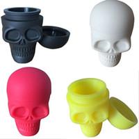 Wholesale New Arrive Skull Slicone Wax Jar Non stick Oil Slicks Container ml Food Grade Jar