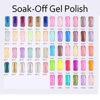 Wholesale 1PCS Top Quality Soak Off Led UV Gel Polish Nail Gel Lacquer Varnish Monasi Enamel Gel Any colors