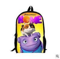 aliens cartoon characters - 50pcs LJJC2077 Hot Fashion Cartoon Home Crazy Alien Backpack Baby School Shoulder Bags Cute OH Children Backpacks Small Plush Backpack