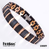 agate jewellry - Bio s Energy Magnetic Health Bracelet Men Brazil Style Black Ceramic Bracelets With Gold Black White Fine Jewellry Bangle