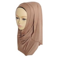 Wholesale Muslim Women Hijabs New Arrival Female Scarf Cotton Jersey Foulard Islamic Scarf Cachecol Feminino colors color11 color20