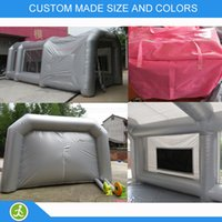 Wholesale m pvc tarpaulin material made Portable mobile inflatable spray booth