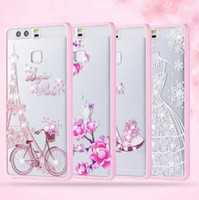 apple iphone girls - Newest Fashion Girl Fancy D Princess Wedding Dress Bling Rhinestone Diamond Transparent plastic PU Back Case For Iphone plus samsung