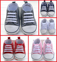 Wholesale Cheap spring autumn baby casual shoes lace children toddler shoes boys and girls soft bottom canvas shoes in stock pair B3